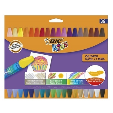 Bic Yağlı Pastel 36 Renk Renkli